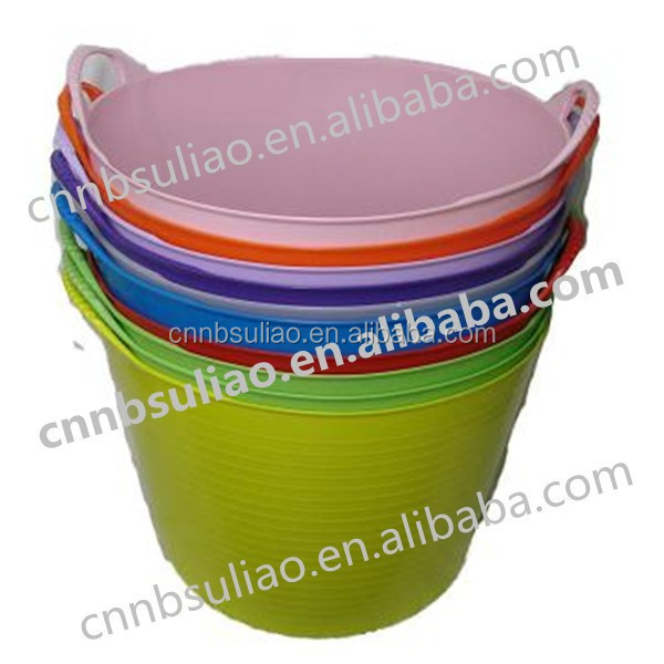 rubber horse water bucket