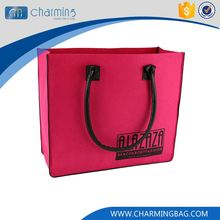 Factory supply OEM design pink color felt tote bag