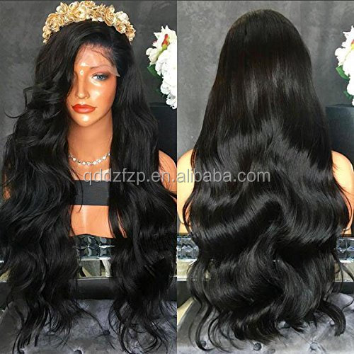 150 Density Realistic Looking Natural Hairline Bodywave Elastic Band Brazilian Hair Glueless Full Lace Wig with Baby Hair