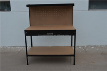 Wholesale homemade metal worktable steel frame workbenches with drawers