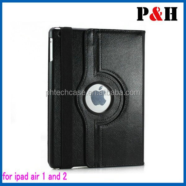 For iPad 6/iPad Air 2 tablet case Hot selling 360 rotating Stand leather case