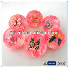 pink 3D high bouncing small rubber ball