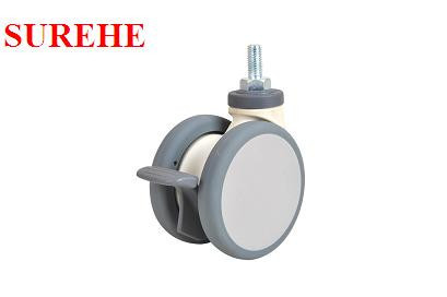 100mm swivel 360 degree brake