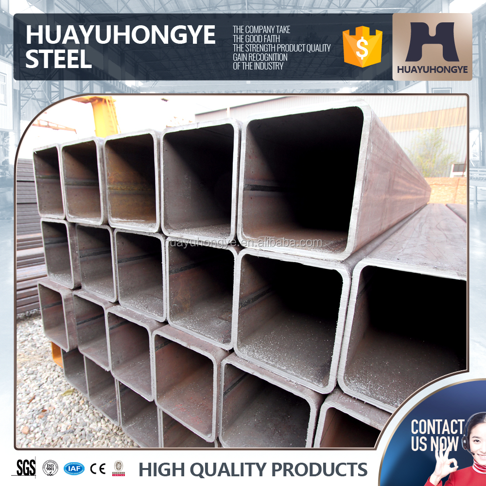 Black iron welded hollow section carbon pipe for indusrtrial