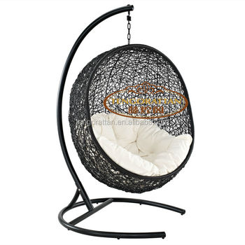 Egg Shaped Bird's Nest Weaving Process Rattan Hanging Chair (Y9068)