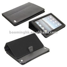 Durable Leather Skin Case for iPad 2 with Built-in Stand