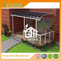 G-MORE Professional Manufacturer, Super Strong Elegant Aluminium/Solid PC Curved Patio Cover/Pergola (GM72004 3X5M)