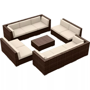 courtyard balcony wicker outdoor sectional furniture patio chair