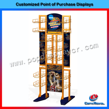 Best quality supermarket metal basketball display rack