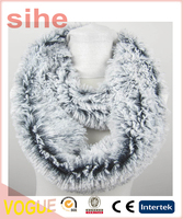 Fashion decoration polyester dip dye faux fur scarf and infinity for winter