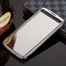 Luxury Clear View Mirror Flip Electroplating Leather Cover for LG G4 G5 V10 Smart case