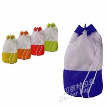 laminated polyester bag Factory direct wholesale promo custom printed drawstring bags
