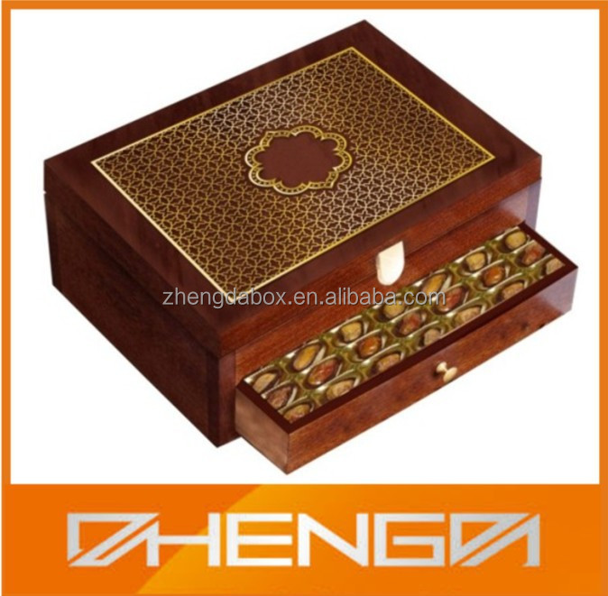 Alibaba china New design Wooden Chocolate <strong>Box</strong> for Ramadan(ZDL-406)