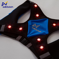 First quality own design LED lighted glow reflective safety X vest