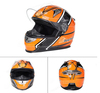 Orange Color Modern Face Motorcycle Helmet Flip Up Helmet Anti-scratch And Anti-fog PC Visor