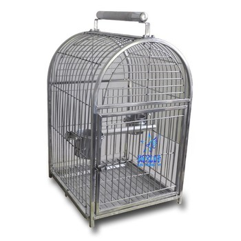 Stainless Steel Parrot Carrier Cage Big Bird Carrier Pet Outisde Carrier
