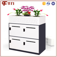 European style 4 door digital lock cabinet /Cabinet Plant Box design locker