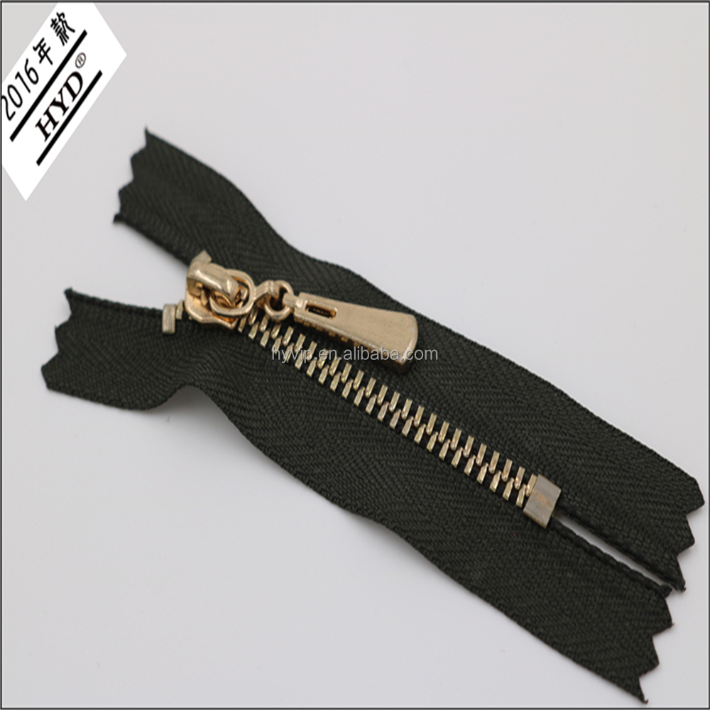 SUPER QUALITY FANCY METALLIC ZIPPERS WITH HIGH POLISHED METAL ZIPPER PULLER