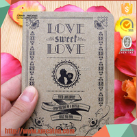 Sweet decoration paper rectangular wedding invitation cards models made in China