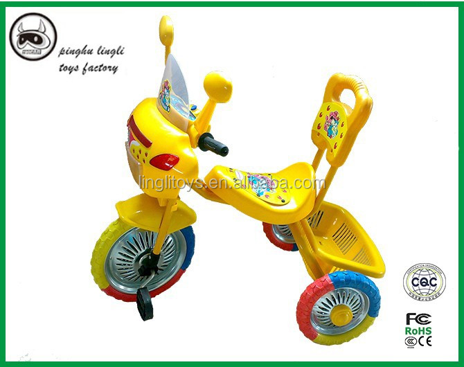 LL602 Pinghu Lingli plastic fashion colorful pedal and baby tricycle