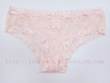 wholesale lady sexy fashion lace pink hipster panties for women