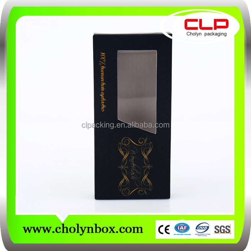 UV-inks special color custom made eyelash packaging box