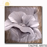 High quality metal flower painting new aluminum art painting