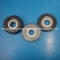 Free sample engineering mould plastic injection colored polyamide nylon 6.6 small spur gear