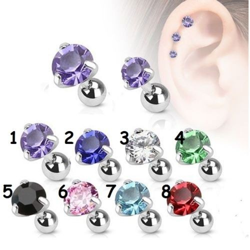 China manufacturer supply prong setting variety shaped zircon ear stud