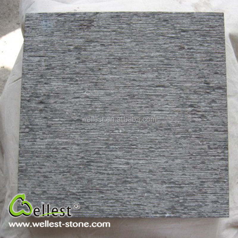 Chinese Chiselled Finished G511 Mongolia Black 24 x 24 Granite Tile