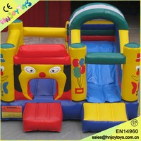 4X4X2.5M Dog Inflatable Bouncer Fun City Bouncing Castle with Slide