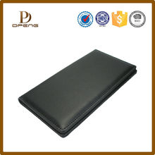 Hot sale black high quality Leather purse leather folder,wholesale leather office set