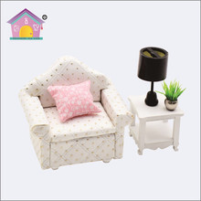 Diy wooden doll house and furniture kit,wooden children furniture toy 1/18 scale