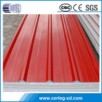 Hot sale! cheap color coated corrugated metal roofing sheet with z45g