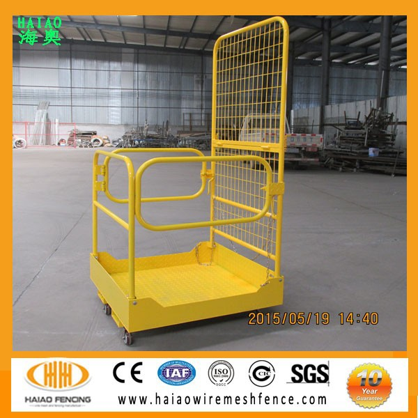 Made in China forklift work platform,foldable forklift safety cage hot sale