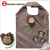 Monkey Shape Polyester Shopping Printed Packaging Bags