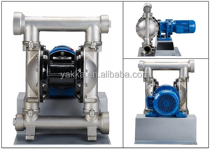 DBY3 electric diaphragm pumps in stainless steel with santoprene diaphragm