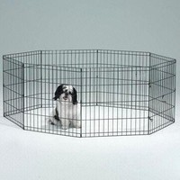 Dog Animal Playpen Large Metal Wire Folding Exercise Yard