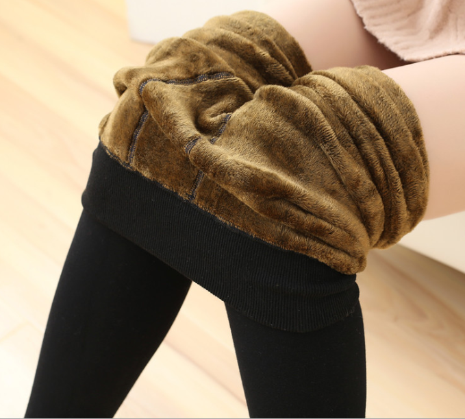 350 grams soft thick Warm Super Elastic fluff Legging Knitted Thick Slim Leggings