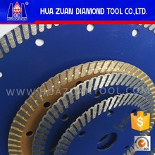 Huazuan hot pressed continuous rim turbo segment diamond cutting saw blade