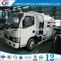 5CBM 2mt 5000L LPG Bobtail Propane Filling Trucks For Nigeria