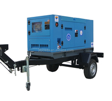 36KW trailer mounted diesel generators silent genset with cheap prices