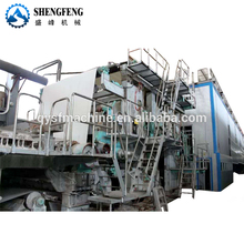 Paper and carton recycling machine to make cardboard paper