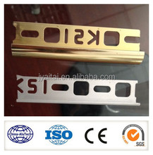 high quality custom made colorful anodized aluminum stair nose trim