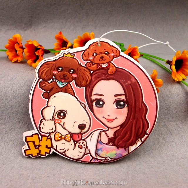 Promotion gifts logo customized fragrance air frashener car paper air freshener from Thailand