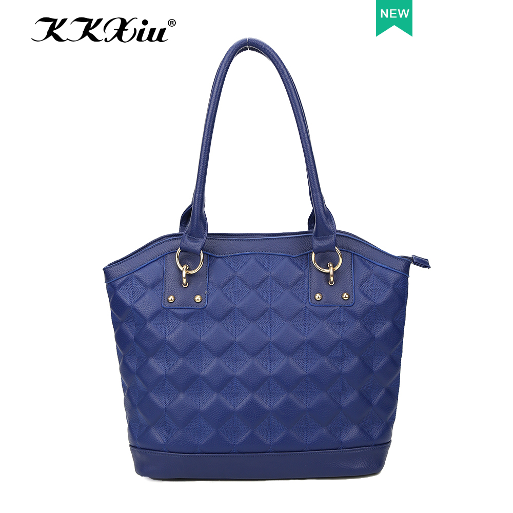 Alibaba quality handbags supplier 2016 new products ladies top 10 PU blue sling bag online shopping