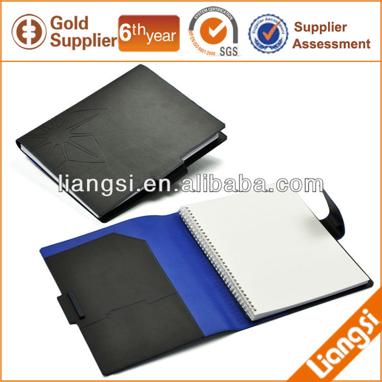 Wholesale leather school notebook / spiral notebook