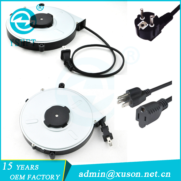 electric extension cable reel with socket outlet switch Europe standard cable reel