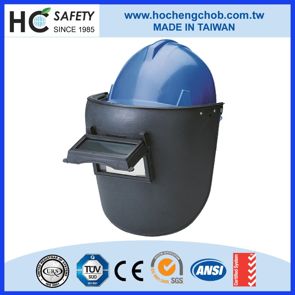 construction workers safety helmet with visor welding mask