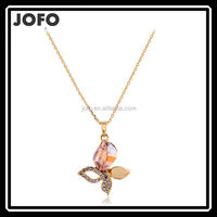 Jofo Brand Beautiful Korean Style Crystal Flower Necklace Accessary Wholesale